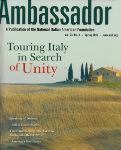 """Offering of the Angels"" is featured in the current issue of Ambassador, the magazine of the National Italian American Foundation (NIAF)."