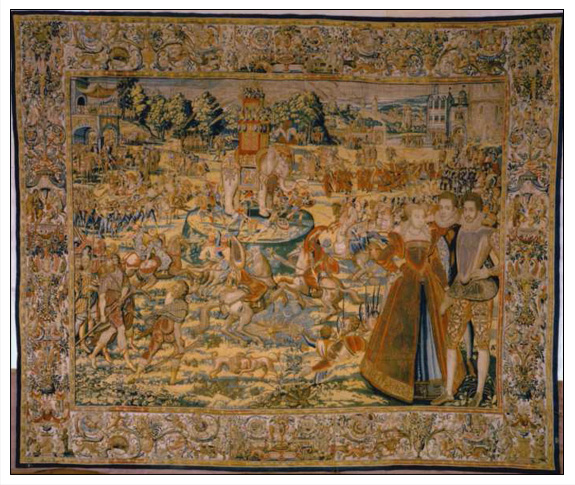 Attack on an Elephant Valois Tapestries Series