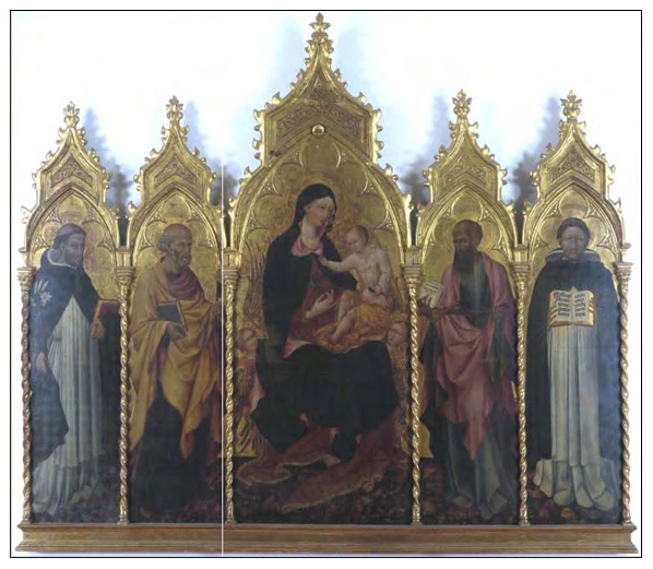 Madonna and Child Enthroned with Saints Giovanni di Paolo Friends of the Uffizi Gallery