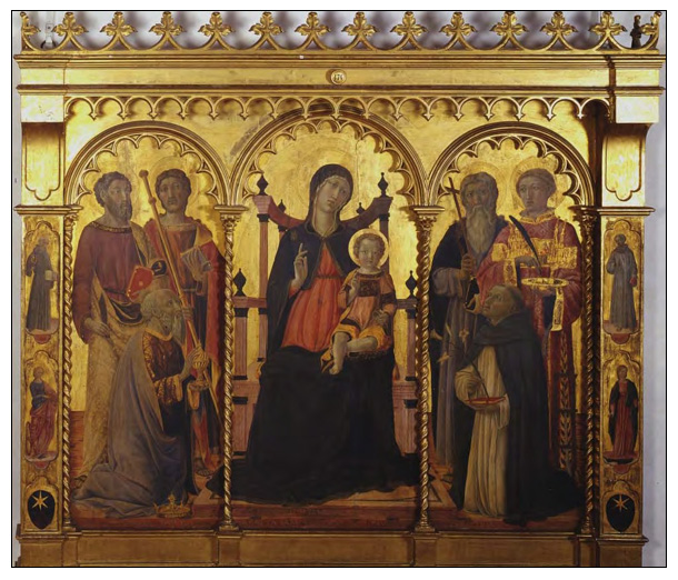 Il Vecchietta Madonna and Child Enthroned With Saints Friends of the Uffizi Gallery