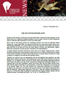 Friends of the Uffizi Gallery December 2012 Newsletter