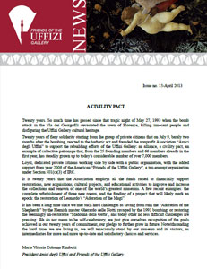 Friends of the Uffizi Gallery December 2013 Newsletter