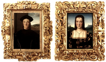 Portrait of Duke Guidobaldo da Montefeltro (c.1506) and Portrait of Elisabetta Gonzaga (c.1504)