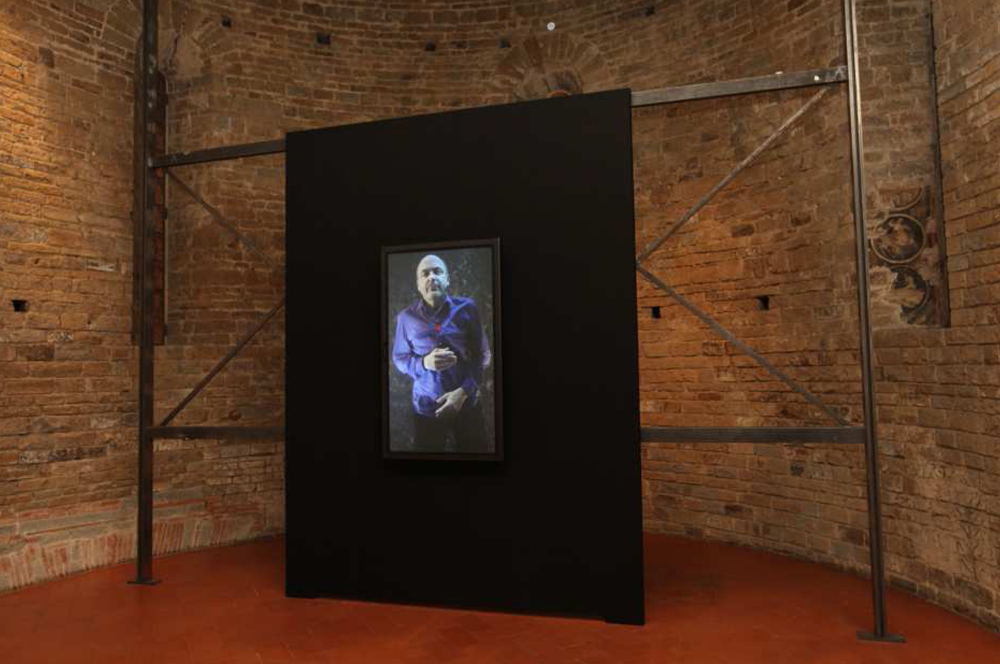 "Bill Viola, ""Self-Portrait, Submerged,"" 2013.  © 2013 Amici degli Uffizi"