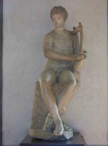 seated apollo uffizi gallery