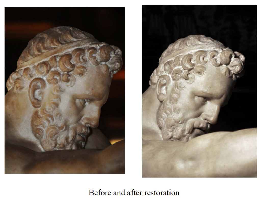 Hercules and the Nessus Before and After